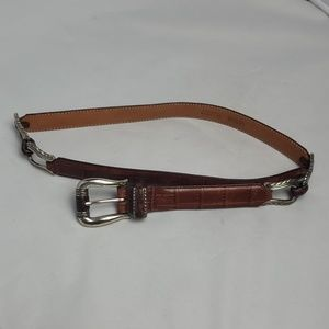 Brighton Western brown leather belt, sz M